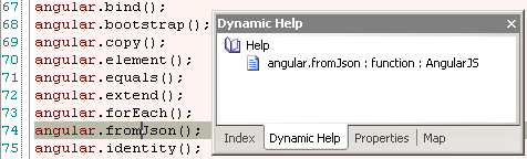 AngularJS dynamic help